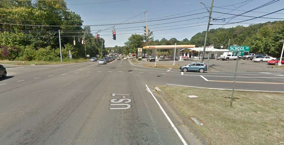 A Google Streetview screenshot of the intersection of Route 7 and Route 107 in Wilton, Conn. On Saturday, July 6, 2019, Wilton police said the traffic lights at this intersection were not working because of a transformer malfunction in Redding. Photo: Contributed Photo