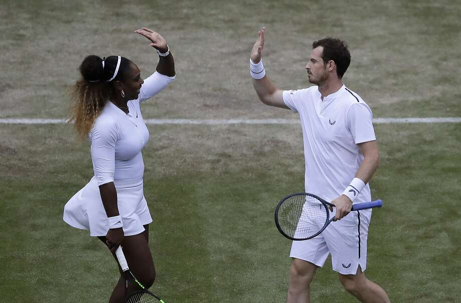 Serena Williams and Andy Murray opened their quest for a mixed doubles title with a win. Photo: Kirsty Wigglesworth / Associated Press