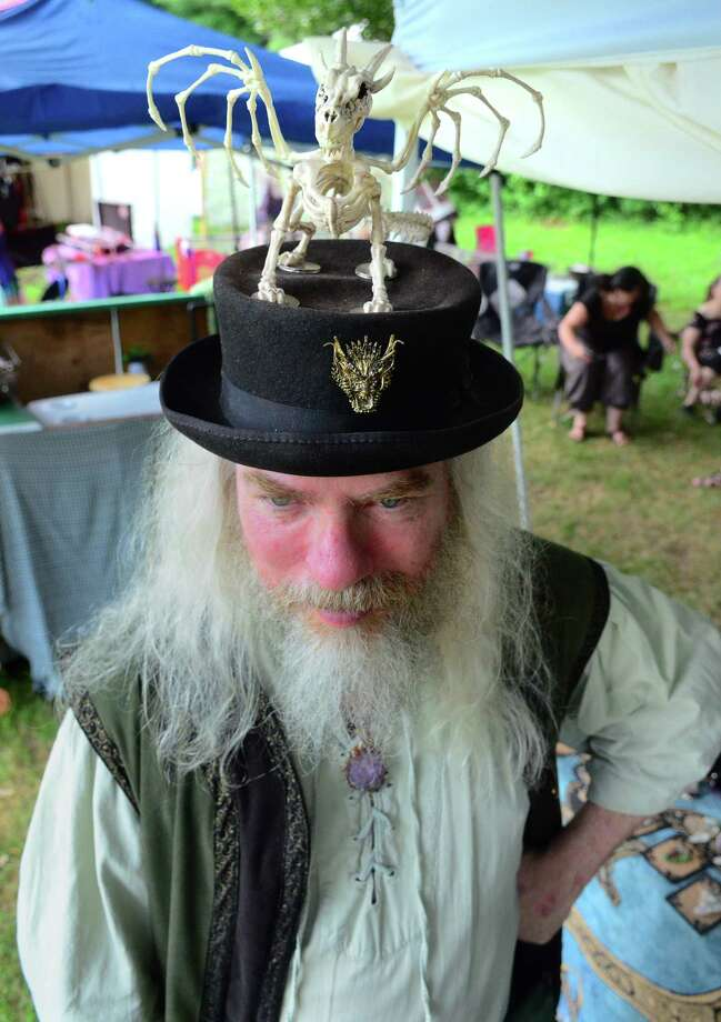 Wayne Tolbert, of Binghamton, NY, attends the annual Midsummer Fantasy Renaissance Faire at Warsaw Park in Ansonia, Conn., on Saturday July 6, 2019. The fair continues Sunday from 11 a.m. to 6 p.m. Photo: Christian Abraham, Hearst Connecticut Media / Connecticut Post