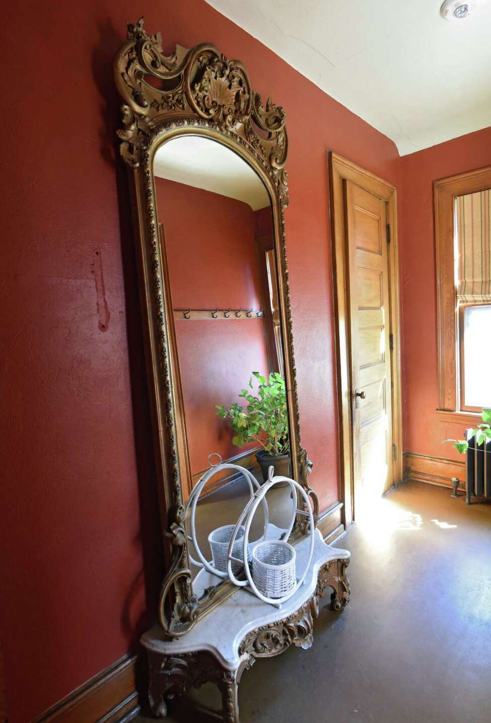 Antique mirror in The Woman's Club of Albany on Monday, July 1, 2019 in Albany, N.Y. The members are celebrating 100 years of home ownership. (Lori Van Buren/Times Union)