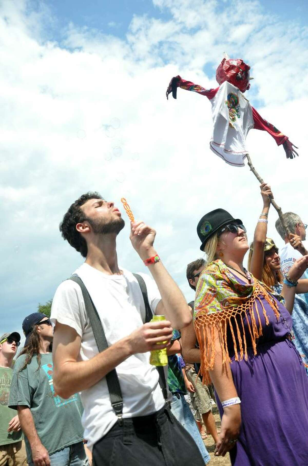 Sam Ackerman, of Queens, NY and Juliet Ariosa, of Baltimore, MD groove to the vibes of Jackie Greene at the Vibes Main Stage during the 15th annual Gathering of the Vibes at Seaside Park in Bridgeport on Friday, July 30, 2010.