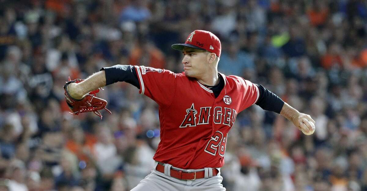 LA Angles starter Andrew Heaney was clean-shaven and through a big curveball on his first pitch in honor of Tyler Skaggs, who passed away on Monday.
