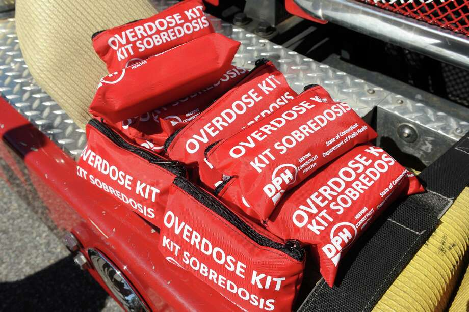 Overdose Kits containing narcan (naloxone hydrochloride) donated to the city's emergency responders in Bridgeport, Conn. Sept. 22, 2016. Photo: Ned Gerard / Hearst Connecticut Media / Connecticut Post