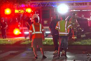 A good Samaritan was critically injured after attempting to rescue a driver from a crash early Sunday morning, according to the Houston Fire Department.