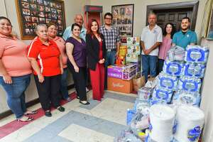 LULAC Council 12 collected emergency supplies at the LULAC 12 Hall on Saturday during the council's emergency supply drive for La Frontera Shelter, a part of Catholic Charities.