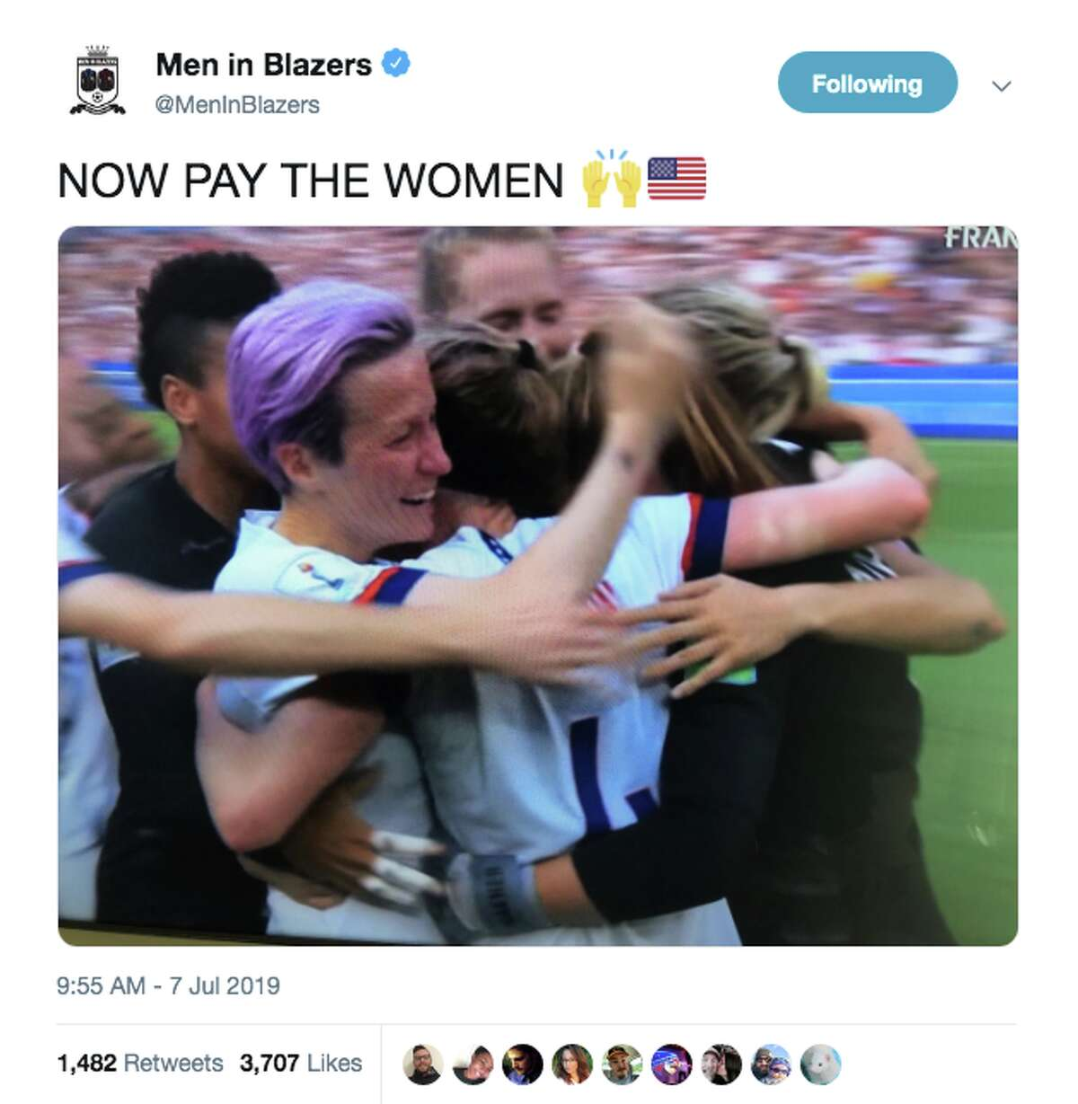 The internet went wild for the United States winning the Women's World Cup over the Netherlands on July 7, 2019.