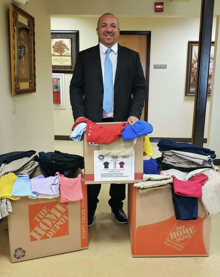 Webb County Precinct 2 Place 1 Justice of the Peace Bobby Quintana launched a uniform drive for students in need. People wanting to donate can stop by at 901 S. Milmo Ave. For more information, call 523-5360. Photo: Courtesy Photo