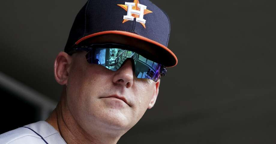 PHOTOS: Astros game-by-game Houston Astros' manager AJ Hinch stands in the dugout in a baseball game against the Cincinnati Reds, Wednesday, June 19, 2019, in Cincinnati. The Reds won 3-2. (AP Photo/Aaron Doster) Browse through the photos to see how the Astros have fared in each game this season. Photo: Aaron Doster/Associated Press