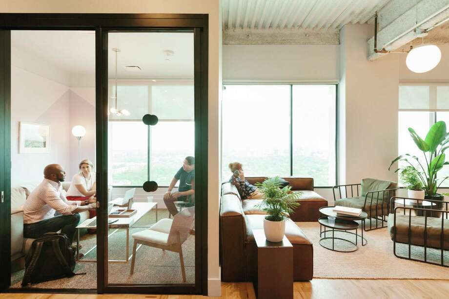 A conference room in WeWork's Galleria location. Photo: Courtesy Of WeWork / © 2018 VRX Studios