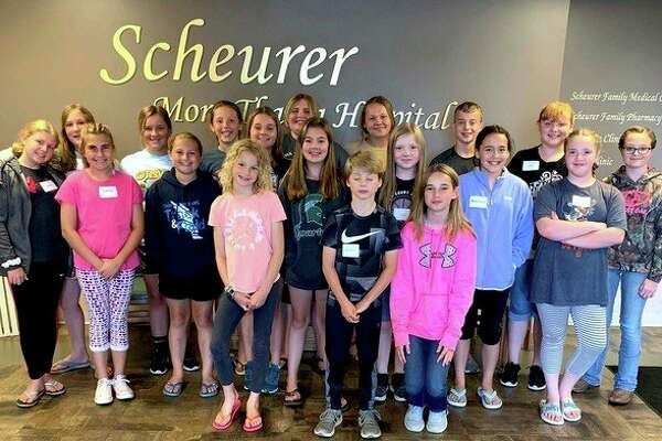A group of youth recently completed the American Red Cross Babysitter's Training course provided by Scheurer Hospital. Instructors, Jaylee Chandonnet and Annette Renn, taught the students leadership, professionalism, appropriate discipline strategies, basic care and life-saving skills. Students who took part in the training course were (Back row): Lexi Gucwa, Malia Roggenbuck, Lily Mammel, McKenna Kemp, Krista Geiger, Makenna Lasceski, Caleb Geiger, Mia Bedore and Amy Weisenbach; (Middle row) Jentry Zimmerman, Erin Jubar, Addie Sattelberg, Olivia Martens, Riley Robinson, Makenzie Lapka and Madison Tietz; (Front row) Aubrey Zarnke, Caiden Geiger and Reece Wruble. (Submitted Photo)