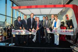 Central Houston Nissan, now the largest Nissan dealership in the nation, held its grand opening recently. On hand for the ribbon-cutting were Fernando Somoza, president and managing partner of Central Automotive Group (CAG); Billy Hayes, vice president for sales with Nissan North America (NNA); Jose Valls, NNA senior vice president and chairman; Antonio Ballesca, a partner of CAG; Ricardo Weitz, dealer and CEO of CAG; Paul Weitz, vice president of Hi Tech Auto Group; Houston Mayor Sylvester Turner; Kirk Franceschini, COO of CAG; and Judy Wheeler, vice president, NNA dealer network development and customer quality.