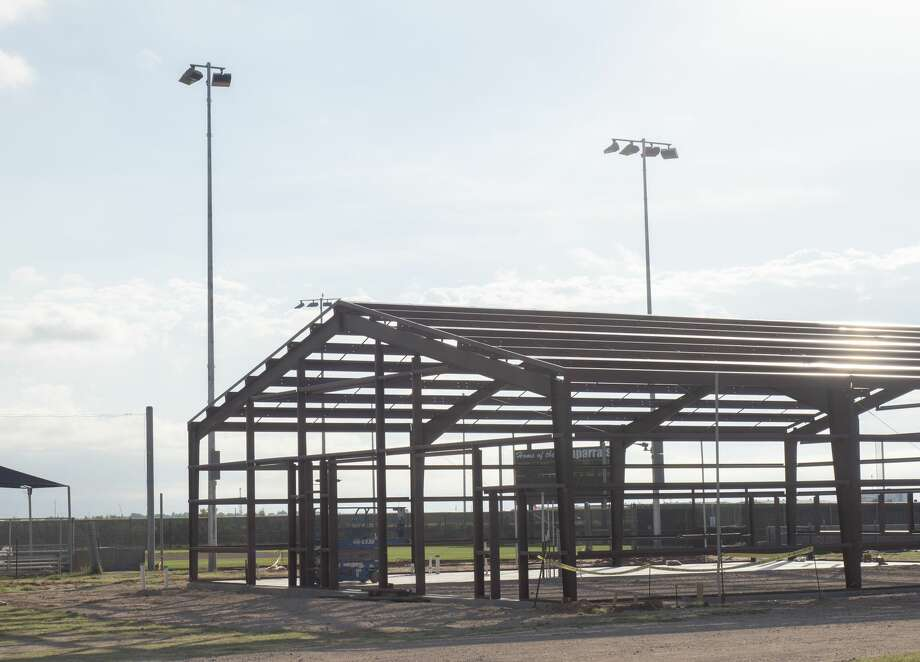 The softball facility is being updated with lights and a new training facility with locker rooms, indoor batting cages and storage. 07/08/19 Tim Fischer/Reporter-Telegram Photo: Tim Fischer/Midland Reporter-Telegram