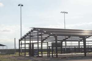 The softball facility is being updated with lights and a new training facility with locker rooms, indoor batting cages and storage. 07/08/19 Tim Fischer/Reporter-Telegram