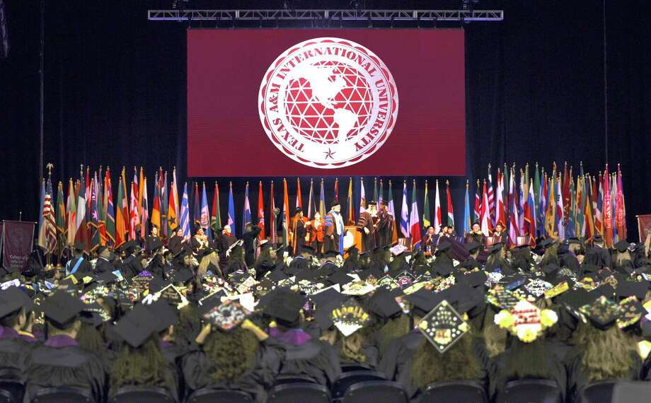 Texas A& International University graduates of the class of 2018 walk the stage during the TAMIU Commencement Ceremony on May 18, 2018 at the Laredo Energy Arena. Photo: Danny Zaragoza, Staff Photographer / Laredo Morning Times