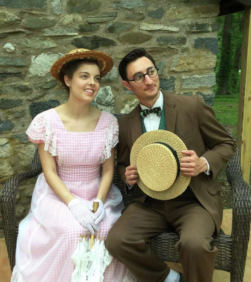 "Megan Daniel of New Haven as Daisy and Derek Clark of Bristol as the Professor in the East Haddam Stage Company's production of William Gillette's 1890 comedy, ""The Professor."" Photo: ReAnna Jean Adams / Contributed Photo"