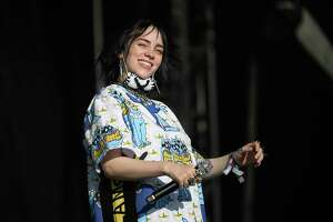 GLASTONBURY, ENGLAND - JUNE 30: Billie Eilish performs on the Pyramid Stage on day five of Glastonbury Festival at Worthy Farm, Pilton on June 30, 2019 in Glastonbury, England. Glastonbury is the largest greenfield festival in the world, and is attended by around 175,000 people.