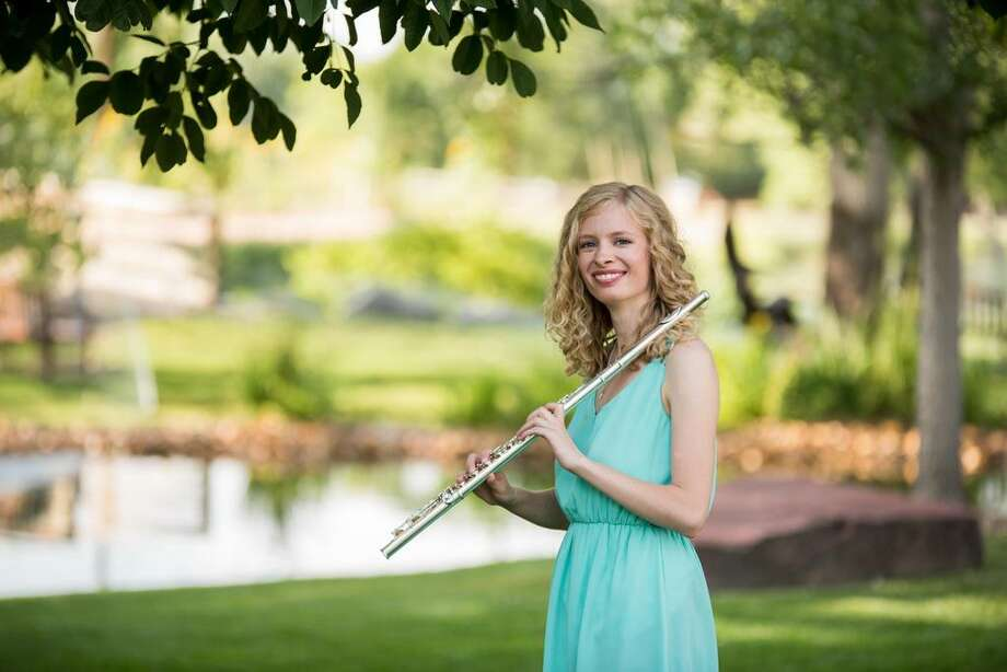 Flutist Melissa Merkel will perform at noon July 12 on the New Haven Green. Photo: Contributed