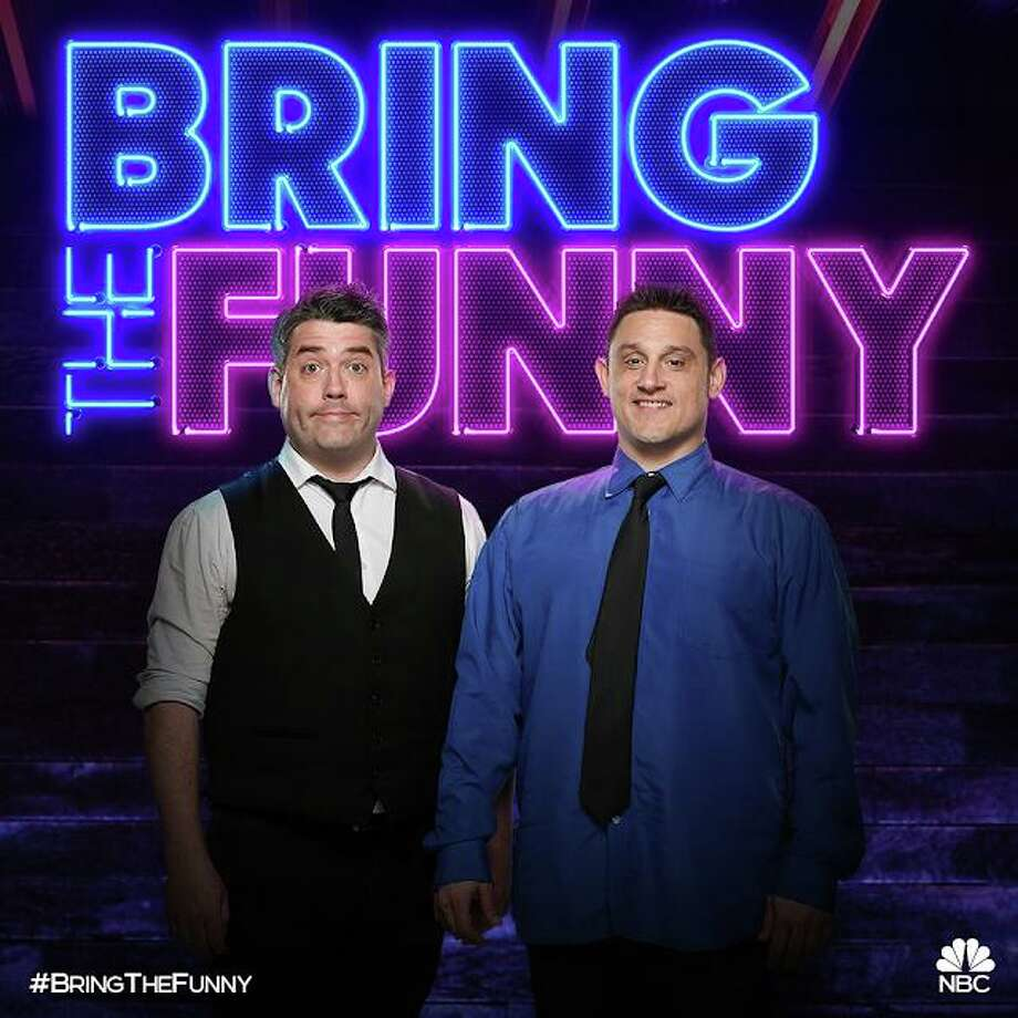 "The Stamford comedy duo known as ""The Chris & Paul Show,"" featuring Chris O'Neill and Paul Valenti, will be appearing on ""Bring the Funny,"" a new comedy competition show on NBC that premieres July 9. Photo: NBC / Contributed Photo"