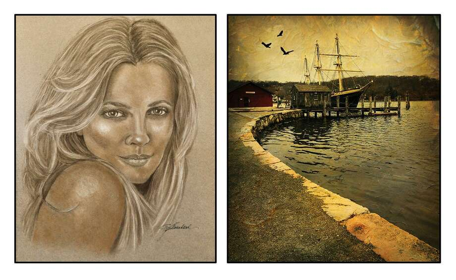 """Come Hither"" Pastel painting by Cindy Blanchard, and ""Ship-A-Shore"" by Ron Blanchard, are featured in the People and Places are show at the Crescent Gallery, 158 Main St., Thomaston, opening July 11 with a reception Aug. 4. Photo: Contributed Photo"