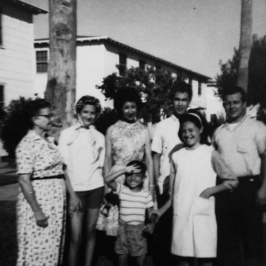 I grew up in Corpus Christi. I was one of eight children my parents struggled to raise. Pictured: That's me saluting the camera.
