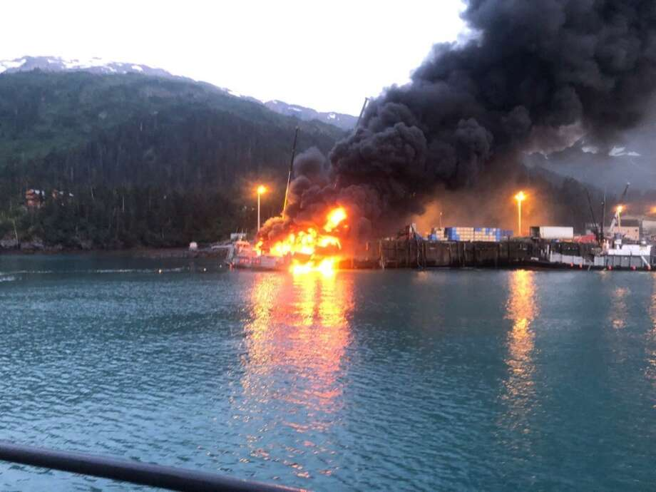 Explosion and fire sink a commercial fishing boat in Alaska - San
