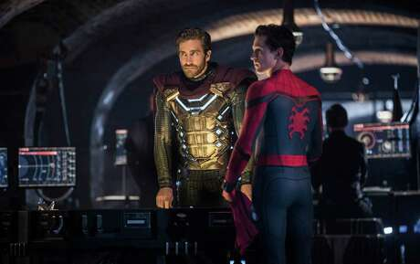 """Spider-Man: Far From Home,"" starring Tom Holland (right) and Jake Gyllenhaal, debuted at No. 1 over the July 4 holiday weekend."