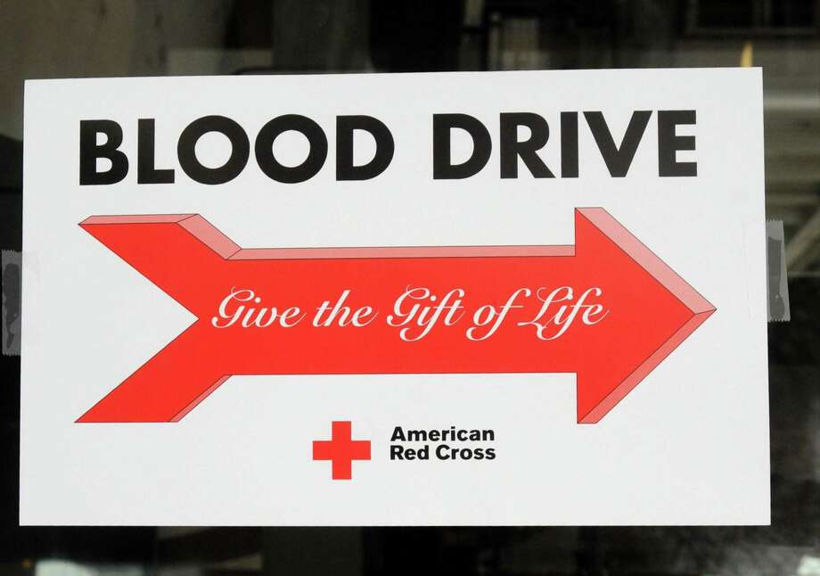 File photo of a blood drive sign. Photo: Lisa Weir / Lisa Weir / Greenwich Time