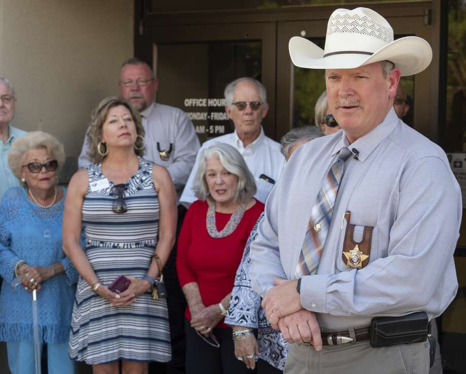 Midland County Sheriff Chief Deputy Rory McKinney announces his intent to run for sheriff 07/08/19 outside the Sheriff Office. Tim Fischer/Reporter-Telegram Photo: Tim Fischer/Midland Reporter-Telegram