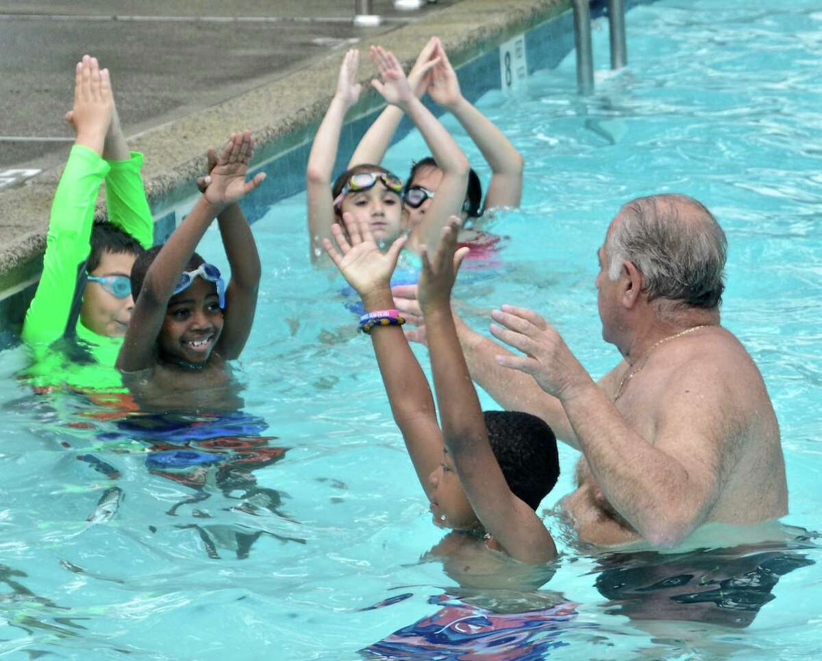 Summer activities for students in Horizons at New Canaan Country School include learning to swim.