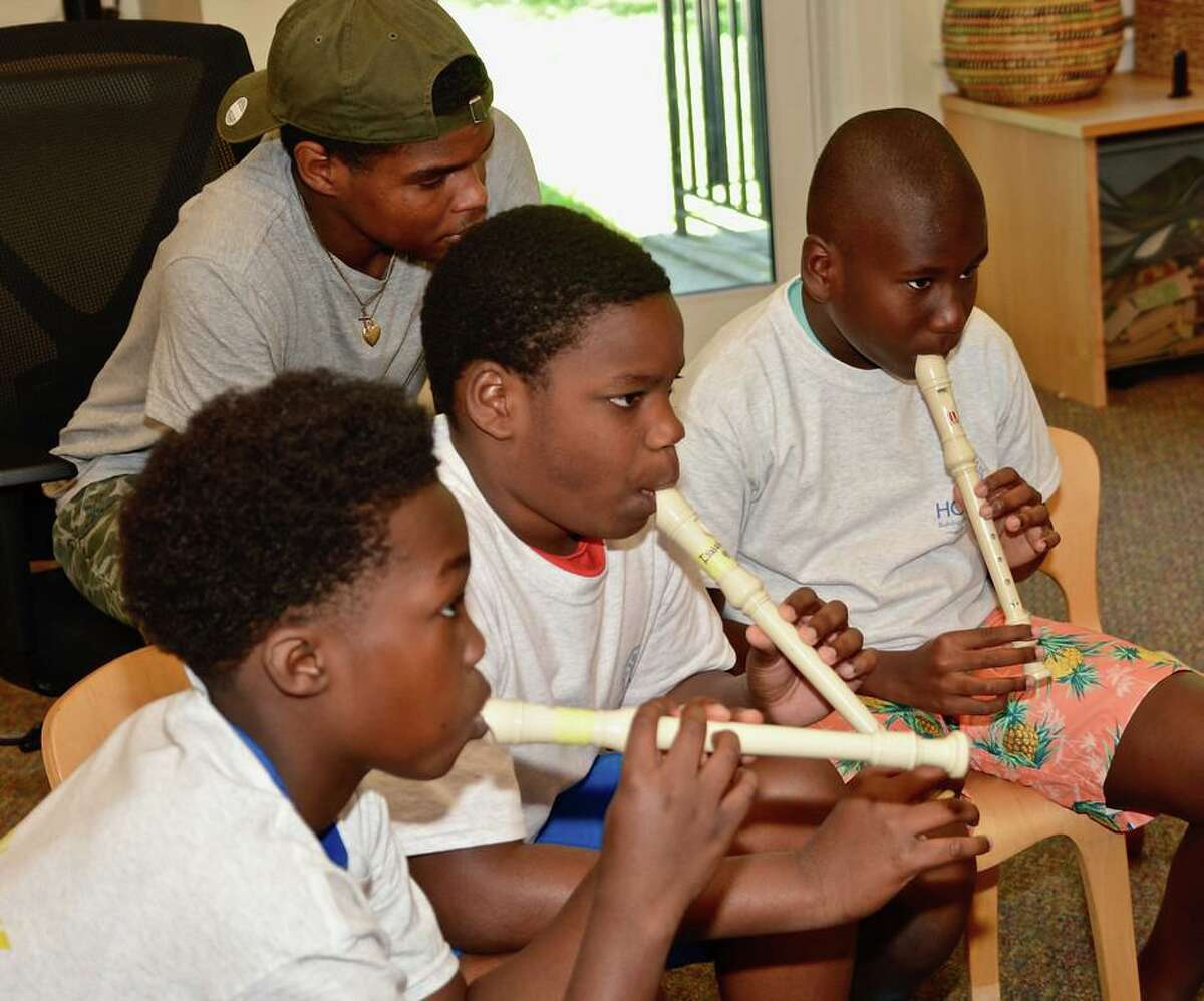 Music is among the enrichment activities available to students in the Horizons Summer Program at New Canaan Country School.