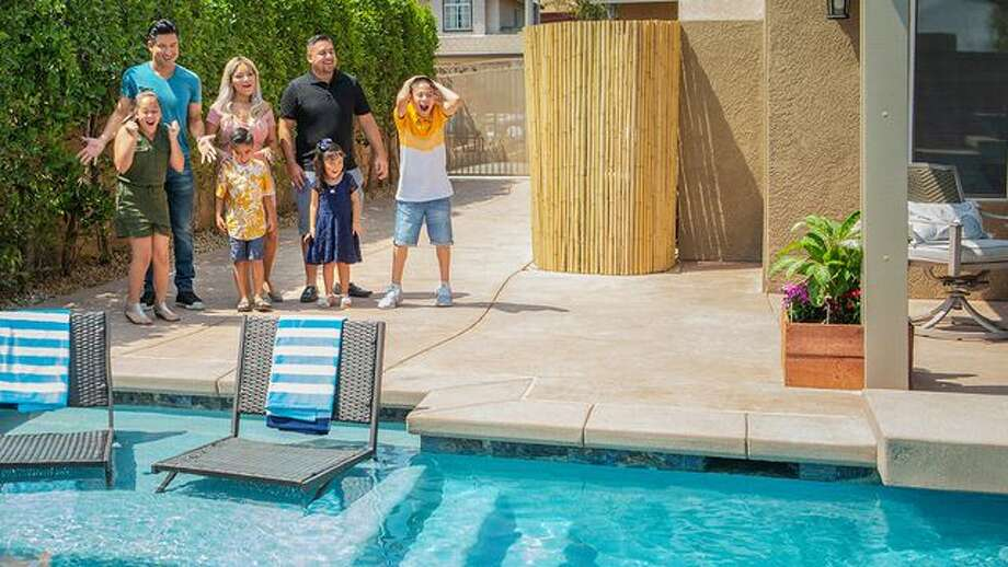 """Mario Lopez gives backyards a face-lift on the new HGTV series """"Supersize My Pool."""" Photo: HGTV"""