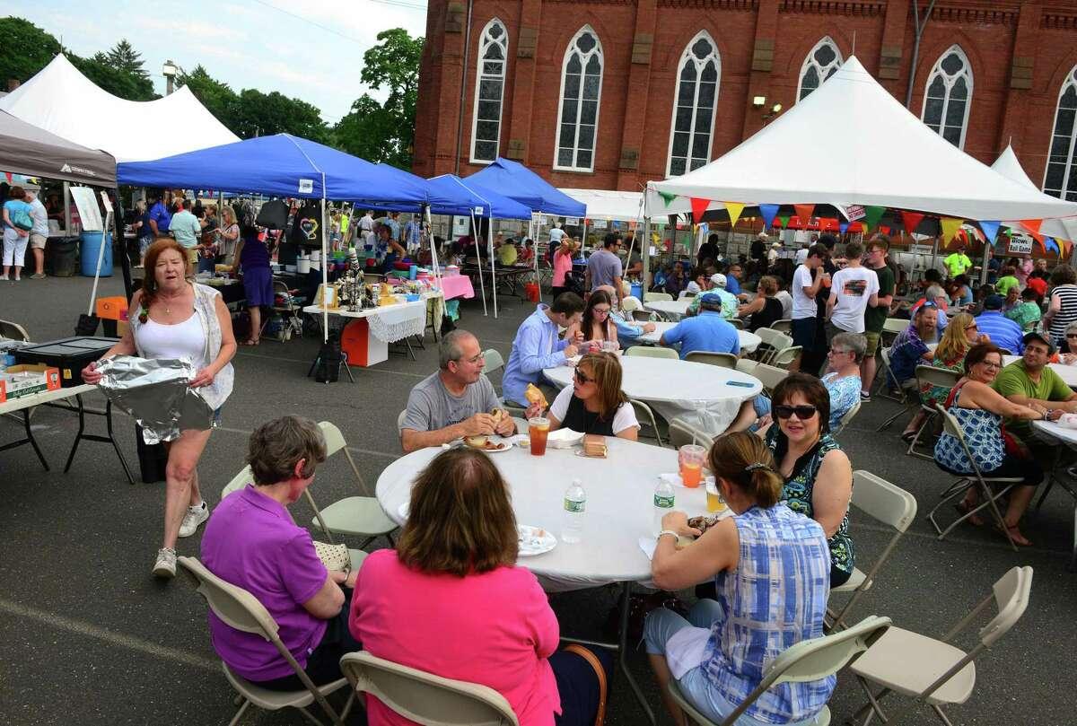 Folks enjoy last year's Summer Festival in Derby.