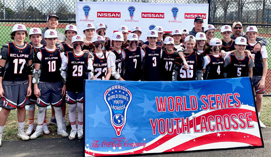 The Eclipse Lacrosse Club U13 team after qualifying for the World Series of Youth Lacrosse on Long Island, in April. The team, with players from New Milford, East Haven, Fairfield, Branford, Ridgefield, New Canaan, Darien, Greenwich, Wilton and Cheshire, is in Denver for the World Series of Youth Lacrosse this week. — Contributed photo.