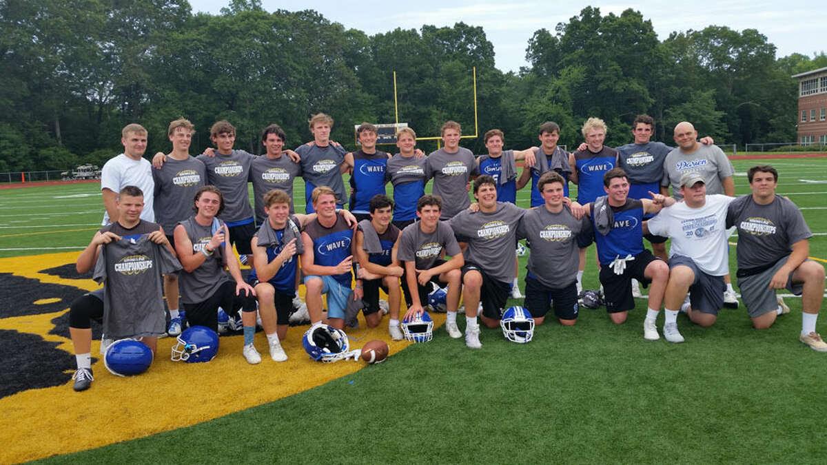 The Darien football team won the Shoreline football 7 vs. 7 tournament on Saturday, June 29. - Dan Nowak/Hearst Connecticut Media
