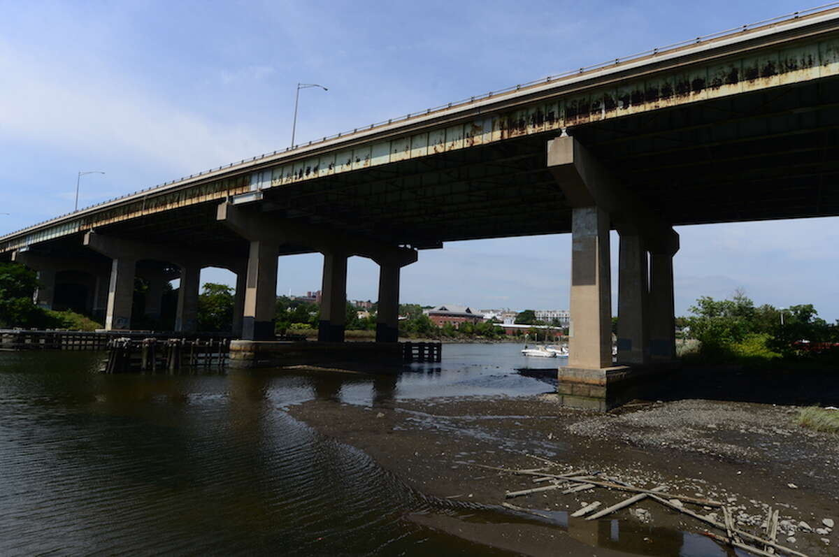 The Yankee Doodle Bridge spans the Norwalk River. - Erik Trautmann/Hearst Connecticut Media