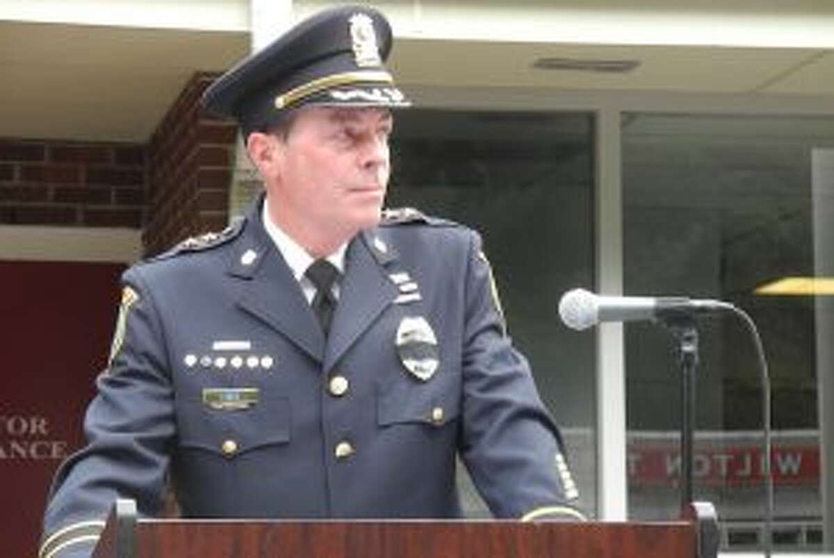 Police Chief John Lynch at last year's 9/11 remembrance.