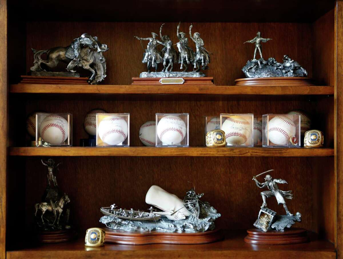 Former Major League Baseball player Billy Grabarkewitz keeps a collection of signed baseballs and other memorabilia at his home in Colleyville, Texas on Friday, June 14, 2019. Grabarkewitz looks back at the 1970 All-Star Game, which amazingly included three players from San Antonio. (photo by Lara Solt )