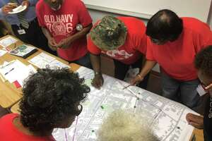 Residents of New Haven's Dixwell neighborhood met July 8, 2019, at the Charles Street police substation to discuss areas where streets need to be made safer, as part of the city Department of Transportation, Traffic and Parking's Safe Routes for All project.