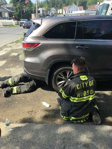 Hudson firefighters save trapped kitten - Times Union
