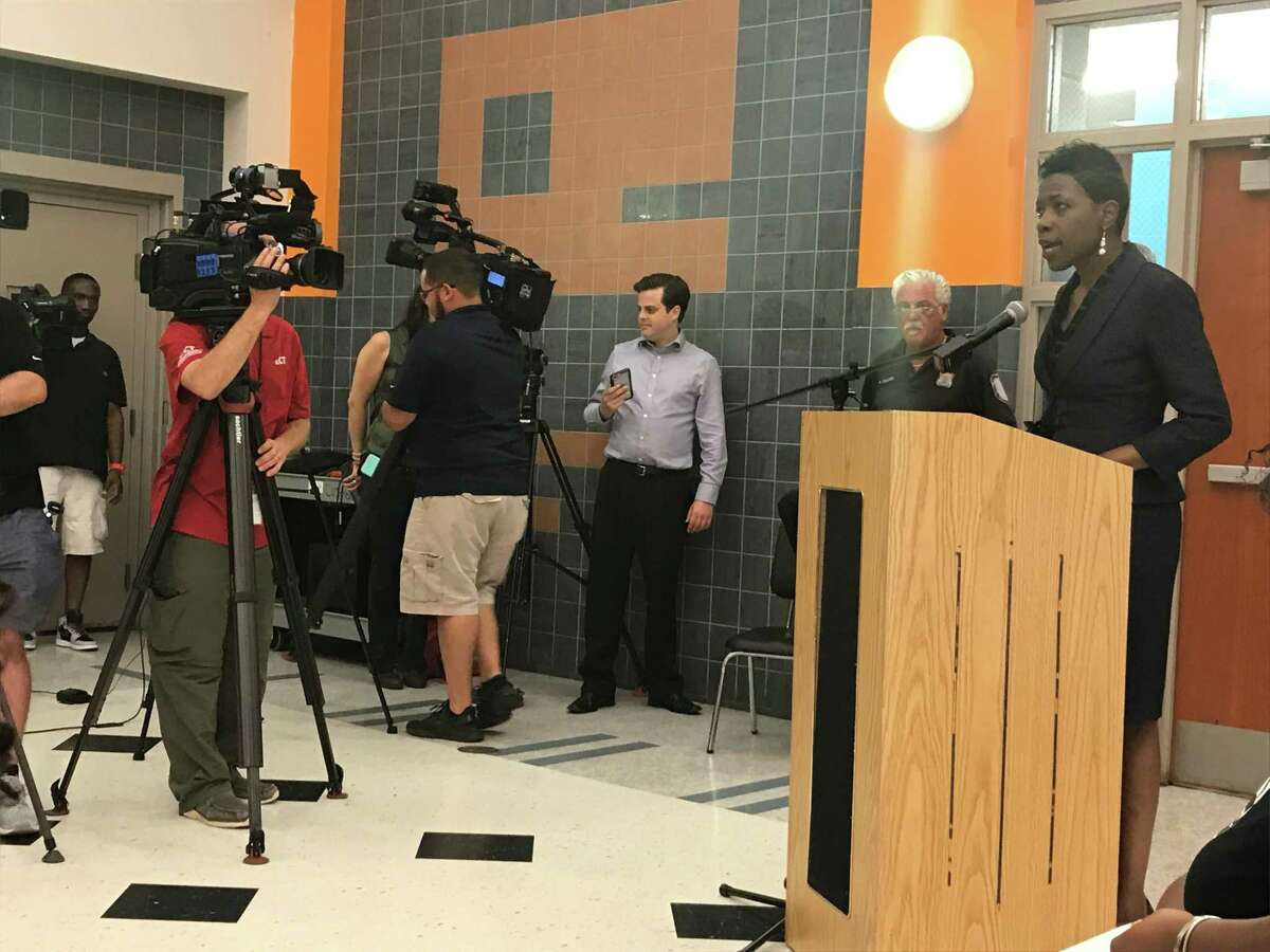 Superintendent of Schools Carol Birks announces her intention to stay in her role on July 8, 2019.