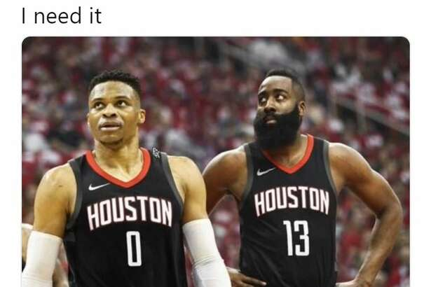 Twitter users had a wide swatch of reactions amid reports that the Rockets are attempting to trade for Thunder guard Russell Westbrook.