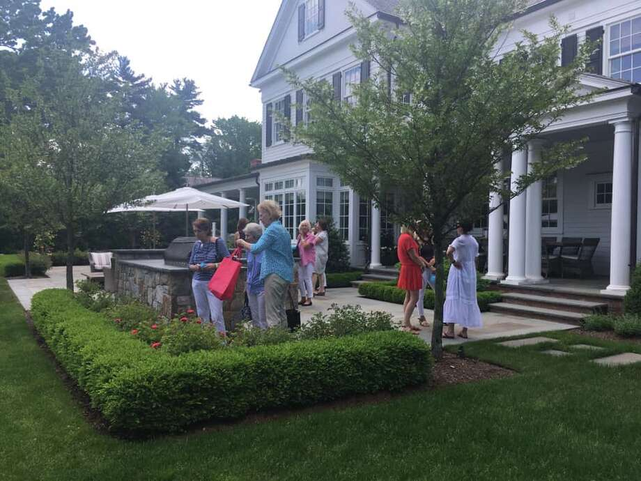 Tour goers at the Darien house tour