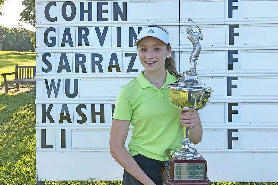 Emily Cohen of Darien won the girls title at the Connecticut Junior PGA Championship at Yale Golf Course in New Haven on Wednesday. — David Fierro/Hearst Connecticut Media / Connecticut Post