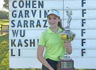 Emily Cohen of Darien won the girls title at the Connecticut Junior PGA Championship at Yale Golf Course in New Haven on Wednesday. — David Fierro/Hearst Connecticut Media