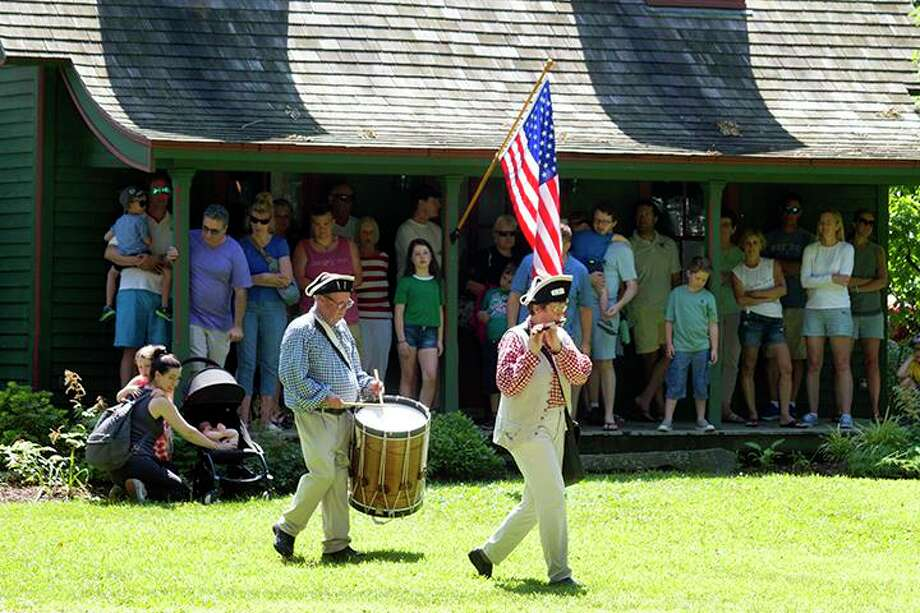 Revolutionary War re-enactors Photo: Contributed Photo