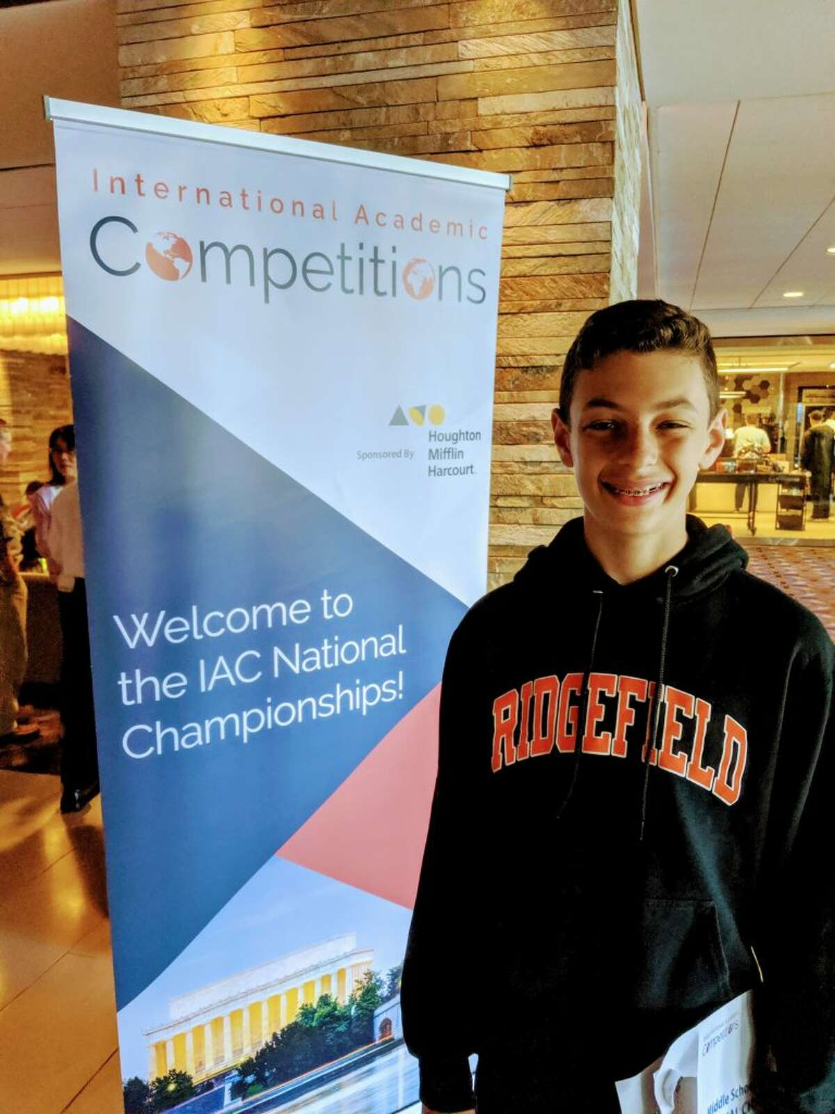 East Ridge Middle School student Zach Smuckler competed at the National Academic Bee, Geography Bee and Geography Olympiad in Chicago earlier this month. In the Geography Olympiad, he scored fourteenth in the country out of 143 competitors.
