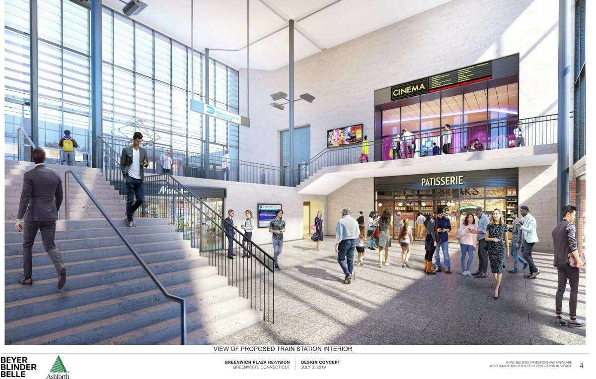 A view of the proposed train station interior for central Greenwich.