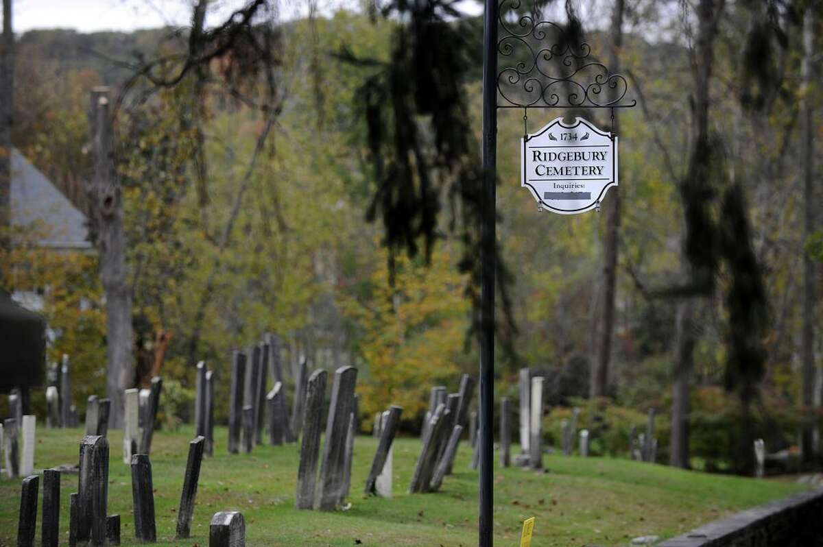 The Ridgebury Cemetery is at 655 Ridgebury Road in Ridgefield.