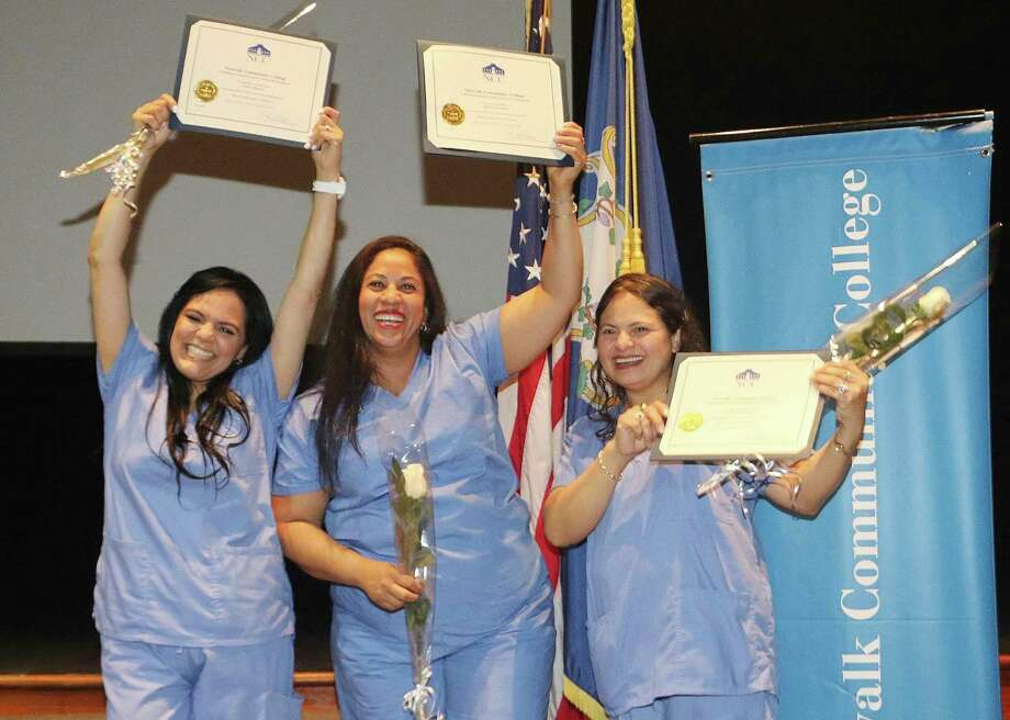 Graduates from Building One Community - The Center for Immigrant Opportunity's Home Health Aide program celebrate. Photo: Contributed Photo / Stamford Advocate contributed