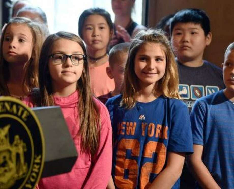Students touring the Capitol are invited to be a part of a press conference on the measles vaccine for summer camp on Thursday, June 6, 2019 at the Capitol in Albany, NY. Photo: Phoebe Sheehan/Times Union